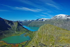 malowniczy krajobrazowy halny Norway Obraz Stock