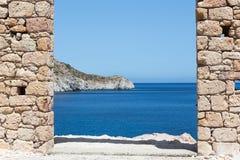 Malowniczy miasteczko Milos wyspy, Cyclades, Grecja Zdjęcie Royalty Free
