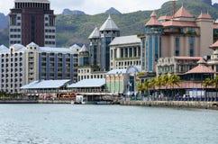 Malowniczy miasto Portowy Louis w Mauritius republice Obrazy Royalty Free