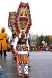 Malowniczy mummers kostiumy Obrazy Royalty Free
