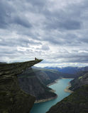 malowniczy Norway krajobrazowy trolltunga obraz royalty free