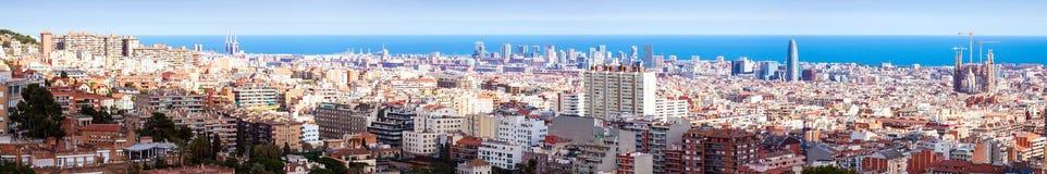 Malowniczy panoramiczny widok Barcelona Zdjęcia Royalty Free