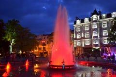 Malowniczy Plovdiv miasta nocy widok obraz royalty free