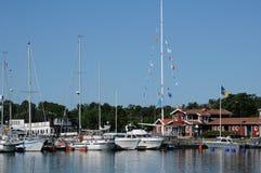 Malowniczy port Nynashamn Fotografia Royalty Free