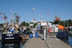 Malowniczy port Nynashamn Zdjęcie Royalty Free