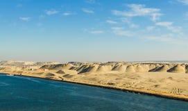 Malowniczy pustynia krajobraz wschodnie strony kanał sueski, Egipt zdjęcie stock
