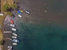 Malowniczy schronienie od above, Grecja fotografia stock