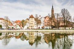 Malowniczy stary miasteczko Landshut Obraz Royalty Free