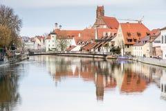 Malowniczy stary miasteczko Landshut Obrazy Royalty Free
