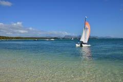 Malowniczy teren los angeles Pointe aux Canonniers w Mauritius Repu Fotografia Stock