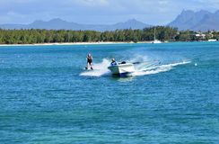 Malowniczy teren los angeles Pointe aux Canonniers w Mauritius Repu Obraz Royalty Free