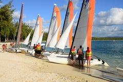 Malowniczy teren losu angeles Pointe aux canonniers w Mauritius Zdjęcie Stock