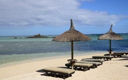Malowniczy teren losu angeles Pointe aux canonniers w Mauritius Obraz Stock