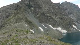 Malowniczy turkusowy Alla-Askyr jeziorny sceniczny widok altai dzie? trwa? g?ry lato zbiory