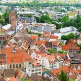 Malowniczy widok Europejski miasto odgórny widok Obraz Stock