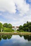 Malowniczy widok na opata pałac w Oliwa parku w Gdańskim, Polska Zdjęcie Royalty Free