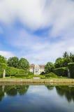 Malowniczy widok na opata pałac w Oliwa parku w Gdańskim, Polska Zdjęcia Royalty Free