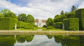 Malowniczy widok na opata pałac w Oliwa parku w Gdańskim, Polska Obrazy Royalty Free