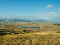 Malowniczy widok od wzgórza jeziorny Bugaz Fotografia Stock
