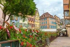 Malowniczy wioska owczarek niemiecki Colmar, Francja Zdjęcie Stock