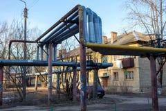 Maloyaroslavets Ryssland - April 2018: Utkant av staden av Maloyaroslavets royaltyfria foton