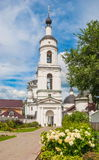 Maloyaroslavets in summer. Chernoostrovsky St. Nicholas Convent in the old Russian city of Maloyaroslavets in Kaluga Region Stock Photography