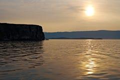 Maloye more strait. Olkhon island, lake Baikal, Siberia, Russia Stock Photo