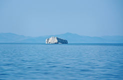 Maloye more strait.Zamogoi Island. Maloye more strait , Zamogoi Island .lake Baikal, Siberia, Russia Royalty Free Stock Photo