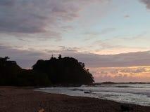 Malpais. CostaRica mare natura sunset stock image