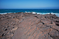 Malpais de Guimar, badlands volcanic landscape in Tenerife, Cana Royalty Free Stock Image