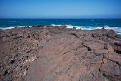 Malpais de Guimar, vulkaniskt landskap för badlands i Tenerife, Cana Royaltyfri Bild