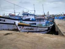 Fishing boats. Malpe beach port Royalty Free Stock Image