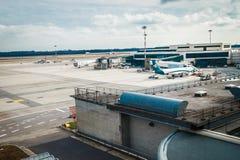 Milan Malpensa Airport. MALPENSA, MILANO, ITALY - JANUARY 20, 2015: Milan Malpensa Airport. It is the biggest airport for Milan area, Italy Royalty Free Stock Images