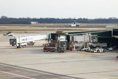 MALPENSA, MILANO, ITALY. JANUARY 20, 2015: View of Milan Malpensa Airport. It is the biggest airport for Milan area, Italy Royalty Free Stock Photo
