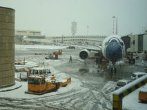 Malpensa snow Stock Photo