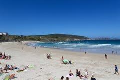 Malpica. Beach of Malpica de Bergantinos, a fishing village at the Costa da Morte in Galicia, Spain Royalty Free Stock Photos