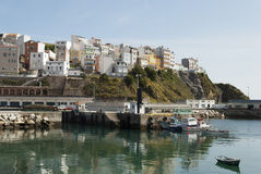 Malpica Harbour. Tranquil early summer's afternoon at Malpica's harbour Stock Photo