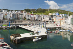 Malpica Overview Pier. Tranquil early summer's afternoon at Malpica's harbor Royalty Free Stock Photo