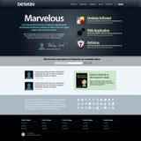 Malplaatje 8 van het Ontwerp van het Web (Donker Thema) Vector Royalty-vrije Stock Foto's