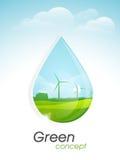 Malplaatje, banner of vlieger voor Go Groen concept Stock Foto's