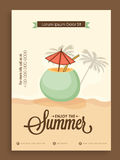 Malplaatje, banner of vliegerontwerp voor de zomer Stock Foto
