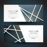 malplaatje De achtergrond van de banner Set Financiële en BedrijfsReeks Stock Afbeelding