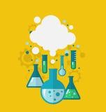 Malplaatje die van chemisch experiment diverse tests tonen die cond zijn vector illustratie