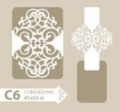 Malplaatje felicitatieenvelop met gesneden openwork patroon royalty-vrije illustratie