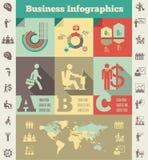Malplaatje het bedrijfs van Infographic. Royalty-vrije Stock Foto