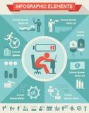 Malplaatje het bedrijfs van Infographic. Stock Afbeeldingen