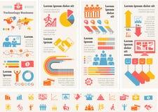 Malplaatje het bedrijfs van Infographic. royalty-vrije stock afbeelding