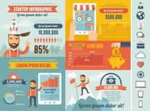 Malplaatje het start van Infographic Royalty-vrije Stock Foto