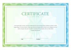 Malplaatje horizontale Certificaat en diploma's Vector Stock Afbeeldingen
