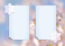 Malplaatje met abstracte kersenbloesem Royalty-vrije Stock Fotografie